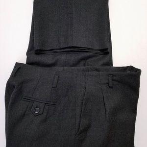 Talbots Pants - TALBOTS Womens Gray Wool Lined Dress Pants